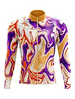 cheap -21Grams Men's Long Sleeve Cycling Jersey Spandex Polyester Yellow Funny Bike Top Mountain Bike MTB Road Bike Cycling Quick Dry Moisture Wicking Breathable Sports Clothing Apparel / Stretchy