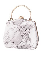 cheap -Women's Bags PU Leather Evening Bag Chain Colorful Party Wedding Evening Bag Chain Bag Gray Green Orange Black