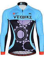 cheap -Men's Long Sleeve Cycling Jersey Summer Spandex Blue Green Gear Bike Top Mountain Bike MTB Road Bike Cycling Quick Dry Sports Clothing Apparel / Athleisure