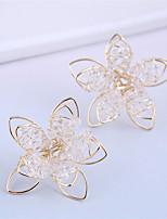 cheap -Women's Stud Earrings Earrings Petal Fashion Sweet Resin Earrings Jewelry Silver / Gold For Gift Prom Date Vacation Birthday 1 Pair
