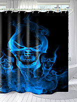 cheap -Halloween Shower Curtain Werewolf Character Series Digital Printing Hooks Modern Polyester New Design