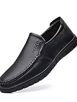 cheap -Men's Loafers & Slip-Ons Business Casual Classic Daily Office & Career Leather Black Brown Fall Winter