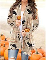 cheap -Pumpkin Cat Coat Cosplay Costume Adults' Women's Cartoon Halloween Party Halloween Halloween Carnival Masquerade Festival / Holiday Acrylic Fibers Beige Women's Easy Carnival Costumes Cartoon