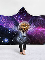 cheap -New Hooded Blanket Cloak Magic Hat Blanket Thick Double Layer Plush 3d Digital Printing Owl