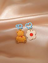 cheap -Women's Drop Earrings Earrings Classic Birthday Simple Cartoon Romantic Sweet Earrings Jewelry Brown For Gift Date Vacation Promise 1 Pair