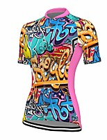 cheap -21Grams Women's Short Sleeve Cycling Jersey Summer Spandex Polyester Blue Unicorn Funny Bike Top Mountain Bike MTB Road Bike Cycling Quick Dry Moisture Wicking Breathable Sports Clothing Apparel