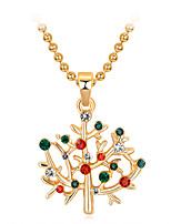 cheap -Women's Pendant Necklace Charm Necklace Classic Flower Fashion Zircon Gold Plated Alloy Rainbow 45 cm Necklace Jewelry 1pc For Christmas Party Evening Street Gift Birthday Party