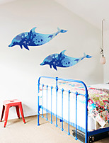 cheap -Dolphin Silhouette Nordic Style Living Room Bedroom Aisle Can Be Customized Wall Stickers 60*90cm
