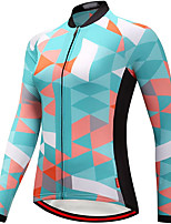 cheap -21Grams Women's Long Sleeve Cycling Jersey Spandex Polyester Green Funny Bike Top Mountain Bike MTB Road Bike Cycling Quick Dry Moisture Wicking Breathable Sports Clothing Apparel / Stretchy
