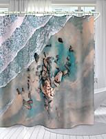 cheap -Beautiful Beach Series Digital Printing Shower Curtain Shower Curtains  Hooks Modern Polyester New Design