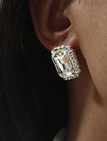 cheap -Women's Drop Earrings Earrings Classic Wedding Stylish Simple Romantic Classic Cowboy Imitation Diamond Earrings Jewelry Silver For Formal Date Beach Promise Festival 1 Pair