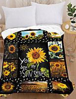 cheap -3d Printed Flannel Blanket Thick Double-layer Blanket Air-conditioning Blanket Air-conditioning Quilt Sheet Sunflower
