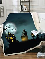 cheap -Adult children's 3D digital printed cotton fleece reinforced blankets for Halloween