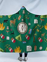 cheap -Digital Print Hooded Blanket Caravan Wear Hood Blanket Home Nesta Kids Blanket Camping Series Double Thick Blanket
