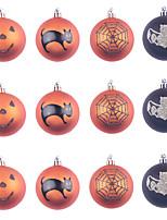 cheap -Halloween Decorations 12pc Plastic Painted Ball Halloween Theme Scene Layout Decoration