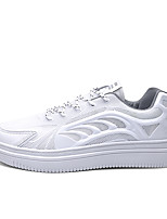 cheap -Men's Sneakers Comfort Shoes Casual Daily PU Non-slipping White / Blue Gray White Fall