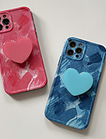 cheap -Phone Case For Apple Back Cover iPhone 12 Pro Max 11 SE 2020 X XR XS Max 8 7 Shockproof Dustproof with Stand Graphic Heart TPU