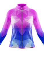 cheap -21Grams Women's Long Sleeve Cycling Jersey Spandex Polyester Red+Blue Funny Bike Top Mountain Bike MTB Road Bike Cycling Quick Dry Moisture Wicking Breathable Sports Clothing Apparel / Stretchy