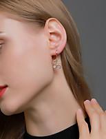 cheap -Women's Earrings Geometrical Cherry Stylish Simple Earrings Jewelry Silver / Gold For Street