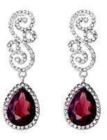 cheap -Women's Synthetic Diamond Earrings Stylish Sweet Earrings Jewelry White / Red For Street Date 1 Pair