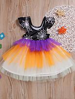 cheap -halloween girls color mesh short sleeve dress