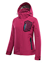 cheap -Women's Hiking Down Jacket Hiking 3-in-1 Jackets Ski Jacket Winter Outdoor Thermal Warm Waterproof Windproof Quick Dry Outerwear Winter Jacket Trench Coat Skiing Ski / Snowboard Fishing Rose red