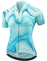 cheap -21Grams Women's Short Sleeve Cycling Jersey Summer Spandex Polyester Blue Funny Bike Top Mountain Bike MTB Road Bike Cycling Quick Dry Moisture Wicking Breathable Sports Clothing Apparel / Stretchy