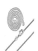cheap -fashion jewelry 925 sterling silver italian 1mm/2mm box chain crafted necklace jewelry for woman men necklace (1mm, 20 inch)