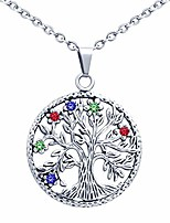 cheap -stainless steel pendant necklace tree of life