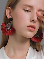 cheap -Women's Earrings Tassel Fringe Stylish Boho Feather Earrings Jewelry Yellow / White / Black For Street