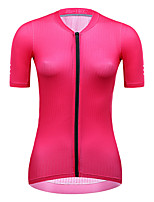 cheap -21Grams Women's Short Sleeve Cycling Jersey Summer Spandex Red Blue Green Solid Color Bike Top Mountain Bike MTB Road Bike Cycling Quick Dry Moisture Wicking Sports Clothing Apparel / Stretchy