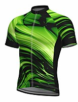 cheap -21Grams Men's Short Sleeve Cycling Jersey Summer Spandex Polyester Green Fluorescent Funny Bike Top Mountain Bike MTB Road Bike Cycling Quick Dry Moisture Wicking Breathable Sports Clothing Apparel