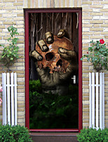 cheap -Halloween 2pcs Self-adhesive Horror Giant Hand Door Stickers For Living Room Diy Decoration Home Waterproof Wall Stickers 77x200cm