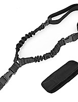 cheap -durable sling with metal hook for outdoors、rock climbing、hunting, traditional strap with loop strap attachment, rope length adjuster,black