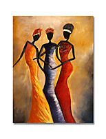 cheap -Oil Painting Handmade Hand Painted Wall Art Retro Figure Abstract Picture Minimalist Home Decoration Decor Rolled Canvas No Frame Unstretched