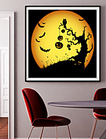 cheap -Halloween Wall Art Canvas Prints Painting Artwork Picture Pumpkin Home Decoration Dcor Rolled Canvas No Frame Unframed Unstretched