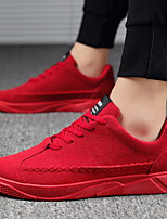cheap -Men's Sneakers Vintage British Daily Office & Career Suede Breathable Shock Absorbing Wear Proof Dark Grey Red Black Fall Spring
