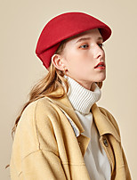 cheap -Women's Beret Hat Party Wedding Special Occasion Flower Flower Wine Camel Hat Black Gray Fall Winter Spring