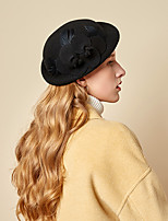cheap -Women's Party Hat Party Wedding Special Occasion Flower Flower Wine Black Hat Gray Fall Winter Spring Holiday