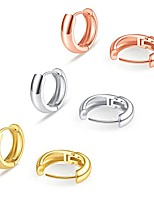 cheap -huggie hoop earrings set minimalist simple geometric gold silver rose gold mini tiny round circle small chunky clip on hoop earrings for women