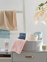 cheap -5 Pcs Cotton Blend Hand Kitchen Shower Towel(Set) Machine Washable Super Soft Highly Absorbent Quick Dry For Bathroom Hotel Spa Solid 32*70cm