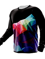 cheap -21Grams Men's Long Sleeve Downhill Jersey Spandex Polyester Black Funny Bike Top Mountain Bike MTB Road Bike Cycling Quick Dry Moisture Wicking Breathable Sports Clothing Apparel / Athleisure