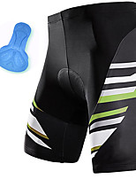 cheap -21Grams Men's Cycling Shorts Summer Spandex Bike Padded Shorts / Chamois Quick Dry Moisture Wicking Sports Stripes Black Mountain Bike MTB Road Bike Cycling Clothing Apparel Bike Wear / Athleisure