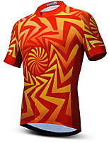 cheap -21Grams Men's Short Sleeve Cycling Jersey Summer Spandex Blue Orange Bike Top Mountain Bike MTB Road Bike Cycling Quick Dry Moisture Wicking Sports Clothing Apparel / Stretchy / Athleisure