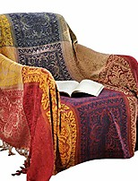 cheap -amorus bohemian throw blankets chenille jacquard tassels soft chair cover for bed couch decorative sofa throw blankets - colorful tribal pattern (m)