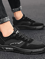 cheap -Men's Sneakers Lace up Retro Casual Vintage Classic Daily Outdoor PU Non-slipping Wear Proof Gray Khaki Black Fall