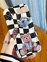 cheap -Phone Case For Apple Back Cover iPhone 12 Pro Max 11 X XR XS Max iphone 7Plus / 8Plus Shockproof Dustproof Cartoon Word / Phrase Graphic TPU