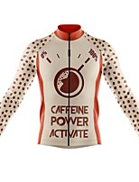 cheap -21Grams Men's Long Sleeve Cycling Jersey Spandex Polyester Orange Polka Dot Funny Bike Top Mountain Bike MTB Road Bike Cycling Quick Dry Moisture Wicking Breathable Sports Clothing Apparel