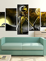 cheap -Halloween Skeleton Wall Art Canvas Prints Painting Artwork Picture Home Decoration Dcor Rolled Canvas No Frame Unframed Unstretched