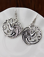 cheap -Women's Drop Earrings Hollow Out Dinosaur Stylish Simple Trendy Earrings Jewelry Silver For Street Formal Prom Date Birthday 1 Pair